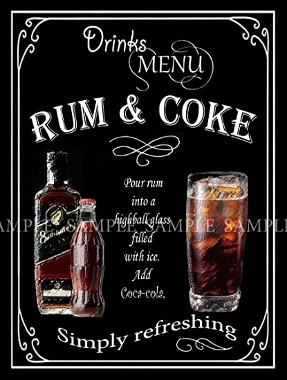 Metal Wall Sign RUM Home Bar Accessories Gift Kitchen Wall Art Plaque Picture