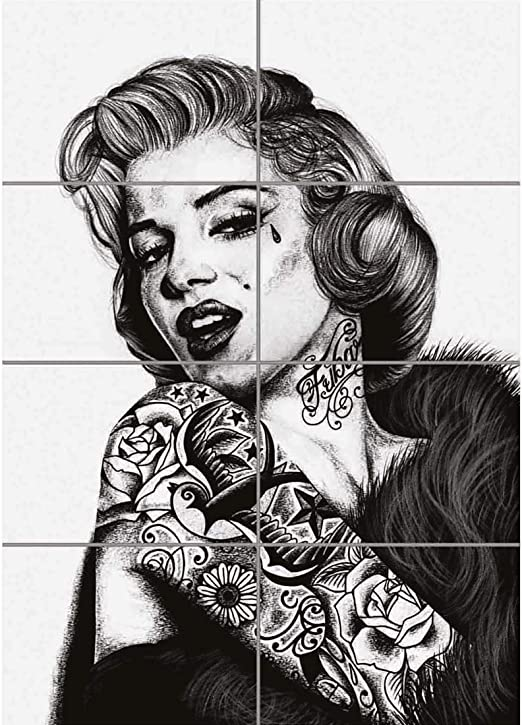 Doppelganger33 LTD Marilyn Monroe Unique Tattoo Icon Arte de la ...
