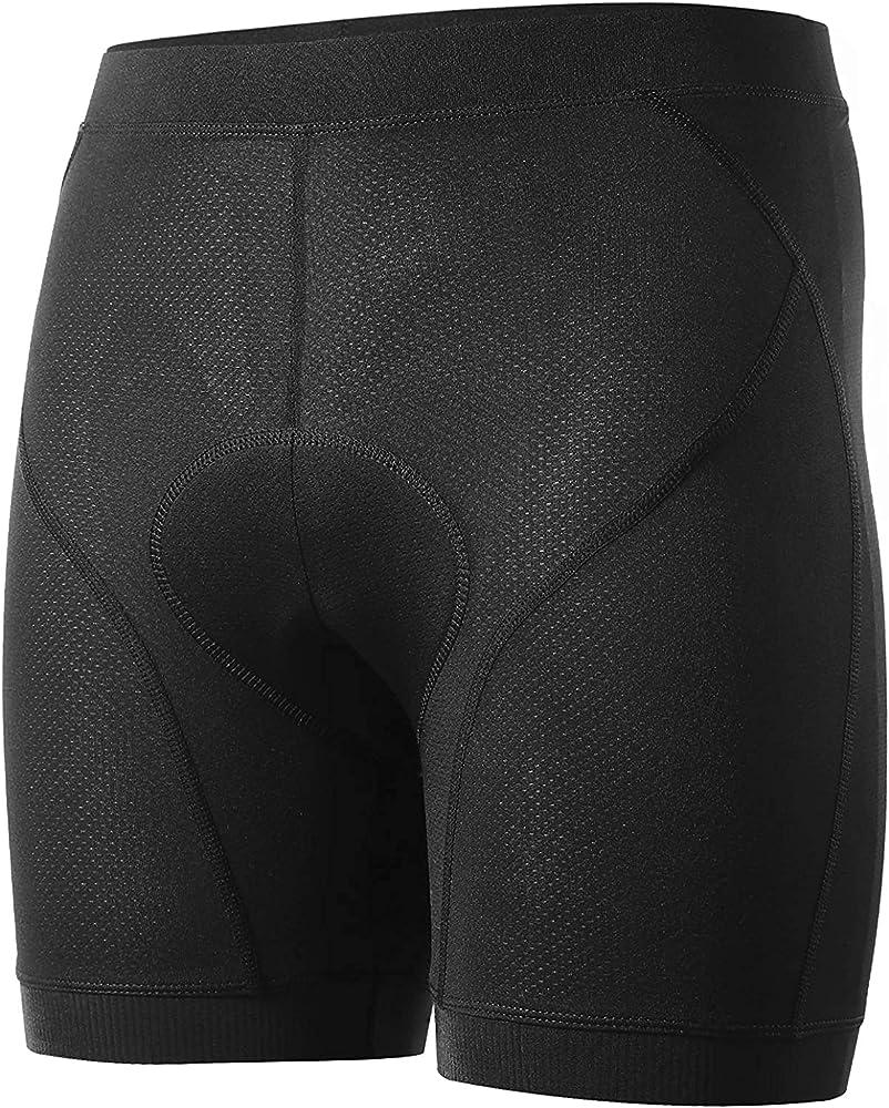 BALEAF Mens Bike Shorts 4D Padded Pockets Cycling Underwear MTB Liner Undershorts Biking Bicycle Ultra Soft Mesh
