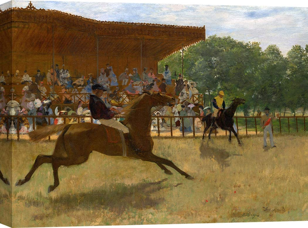 Art Print Cafe – Cuadro – Impresion sobre Lienzo - Edgar Degas, The False Start – 100x70 cm