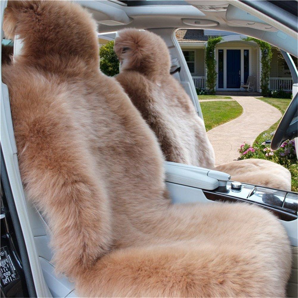 (ピーキー)Peigee カーシートカバー 車アクセサリー 羊毛 シートクッション ウール ムートン 軽自動車 普通車 3枚セット B01N0RGWOG ブラウン ブラウン