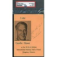 $88 » Gordie Howe Autograph Flyer Postcard Hand Signed - PSA/DNA Certified - NHL Cut Signatures