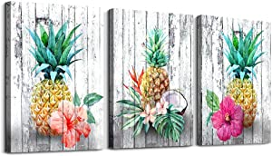 Pineapple Decor Framed Wall Art Canvas Painting Room Decor Prints Home Wall Art Dorm Decor Fruit Artwork Picture Poster Office Kitchen Decoration