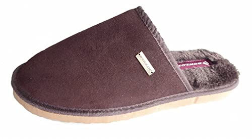 Dunlop MS143 - Zapatillas de Estar por casa de Cuero para Hombre, Color Marrón, Talla 43 EU: Amazon.es: Zapatos y complementos