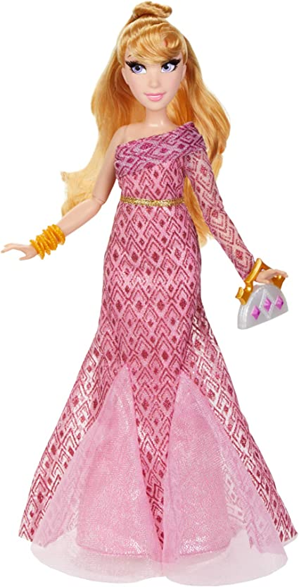 Amazon Com Disney Princess Style Series Aurora Fashion Doll Contemporary Style Dress With Earrings Purse And Shoes Toy For Girls 6 And Up Toys Games