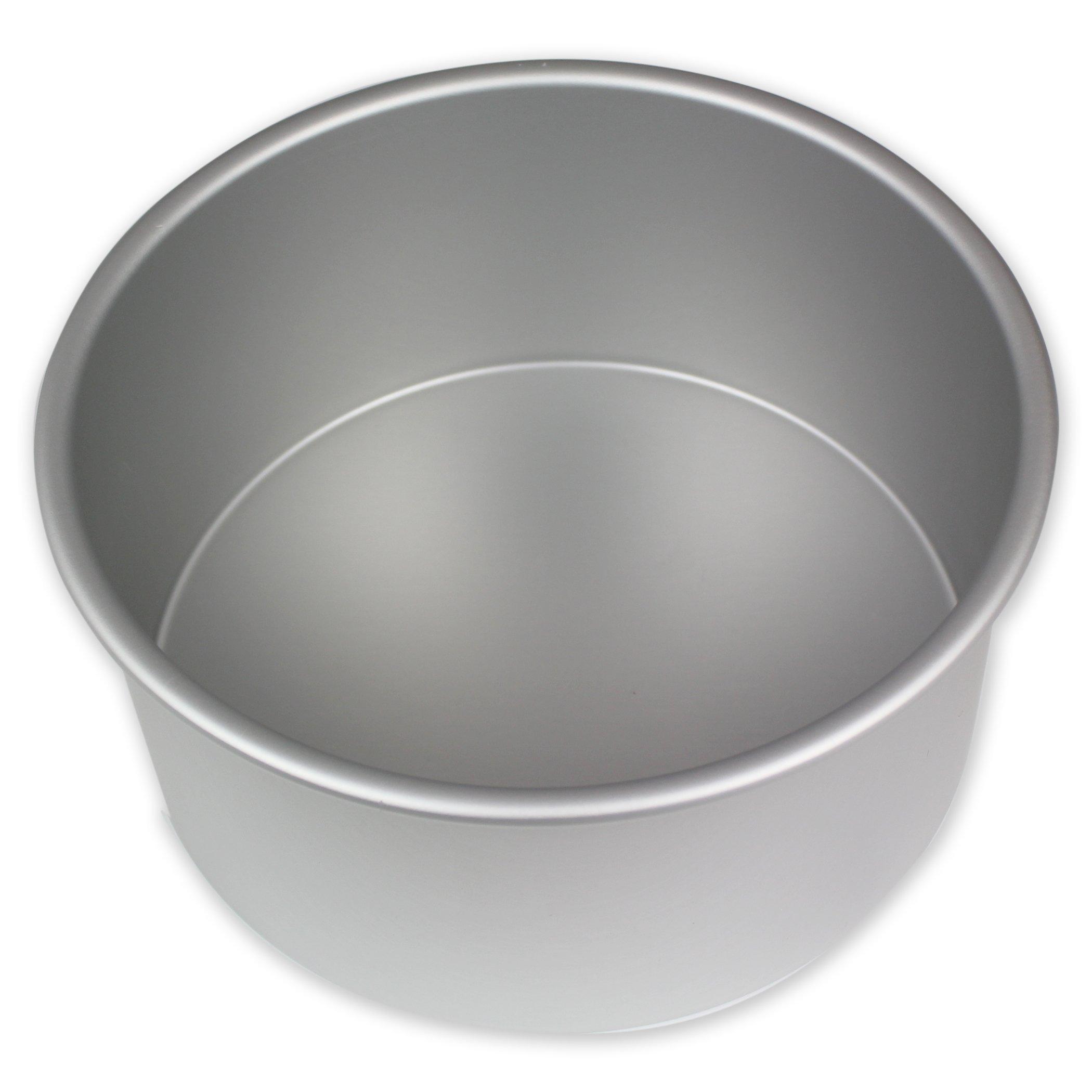 PME RND074 Round Seamless Professional Aluminum Baking Pan, 7'' x 4'', Silver