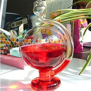 simhoa Glass Barometer Crystal Globe Sphere Shape Weather Forecaster Home - Blue, 915cm