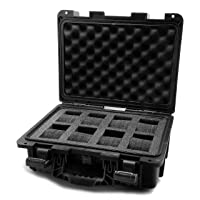 IG0098-SLC8S-B 8 Slot Black Plastic Watch Box Case
