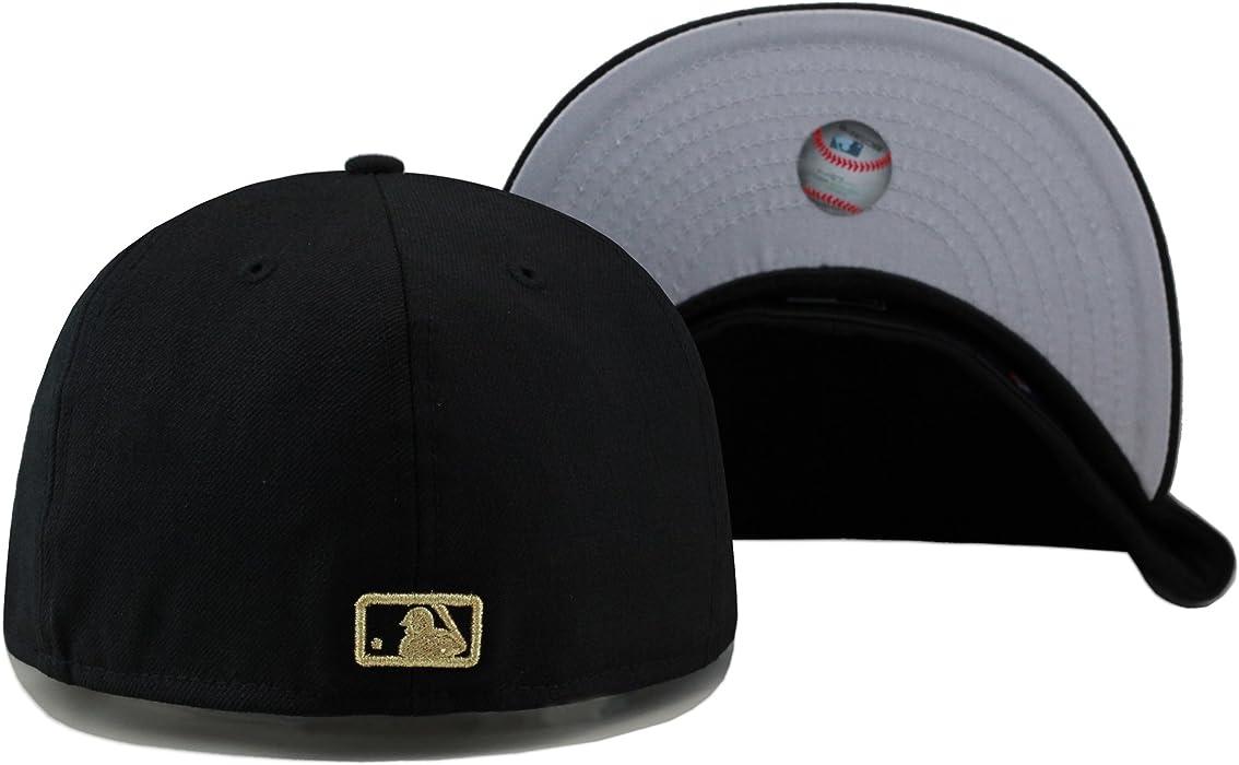 2ae5f80bf9b York Yankees Fitted Hat Cap Black Gold Metal Badge. New Era Men s New York  Yankees Fitted Hat ...