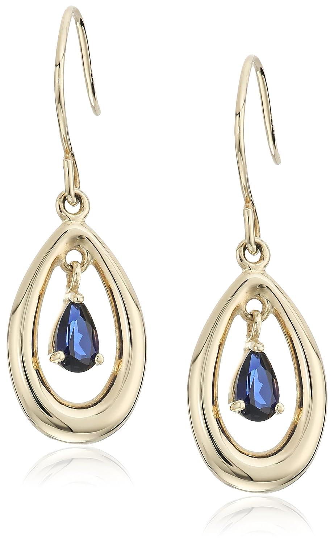 10k Yellow Gold Drop Earrings Amazon Collection E20330CS10