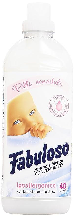 Fabuloso - Suavizante concentrado, hipoalergénica con leche de almendra dulce - 1000 ml: Amazon.es: Salud y cuidado personal