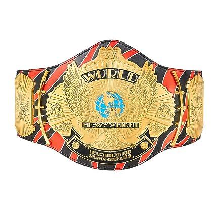 d8f29bc6d4e7 Amazon.com: WWE Authentic Wear Shawn Michaels Signature Series Championship  Replica Title Belt: Sports & Outdoors