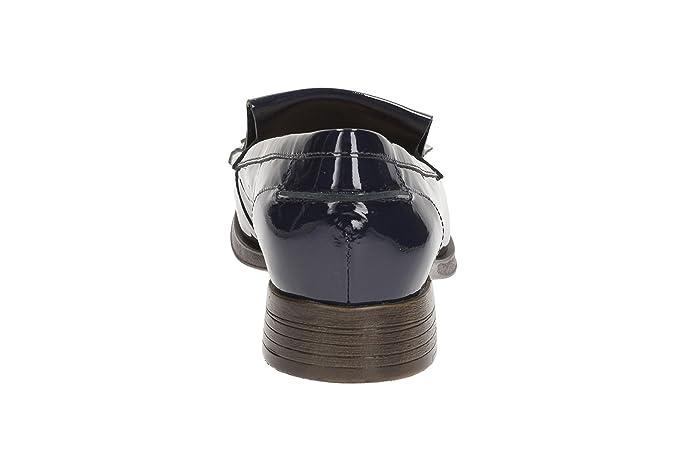 : Clarks Busby locura, color azul marino zapatos