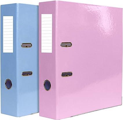 Indigo - Archivador de anillas (A4, 70 mm), varios colores pastel, color Surtidos. 3 unidades: Amazon.es: Oficina y papelería