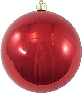 "Christmas by Krebs Giant Commercial Shatterproof UV Resistant Plastic Christmas Ball Ornament, 8"" (200mm), Sonic Red"