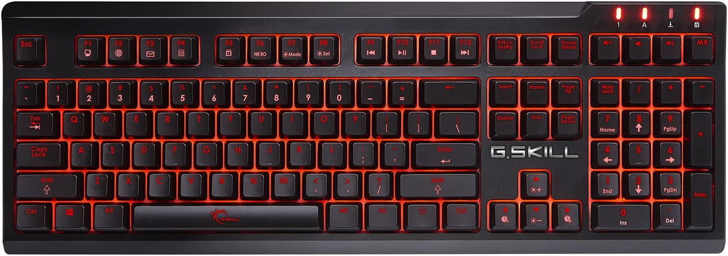 Amazon Com G Skill Ripjaws Km570 Mx Minimalistic Fully Utilized Mechanical Gaming Keyboard Cherry Mx Red Computers Accessories