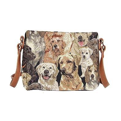 7b150f849b Signare Tapestry Tan Crossbody Shoulder Bag Purse Handbag in Labrador Dog  (XB02-LAB)