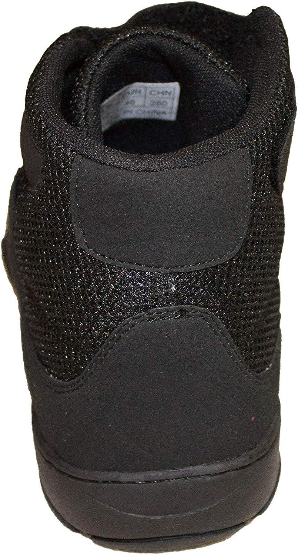 Zapatos de Boxeo Negros Cuero//Tejido de Malla