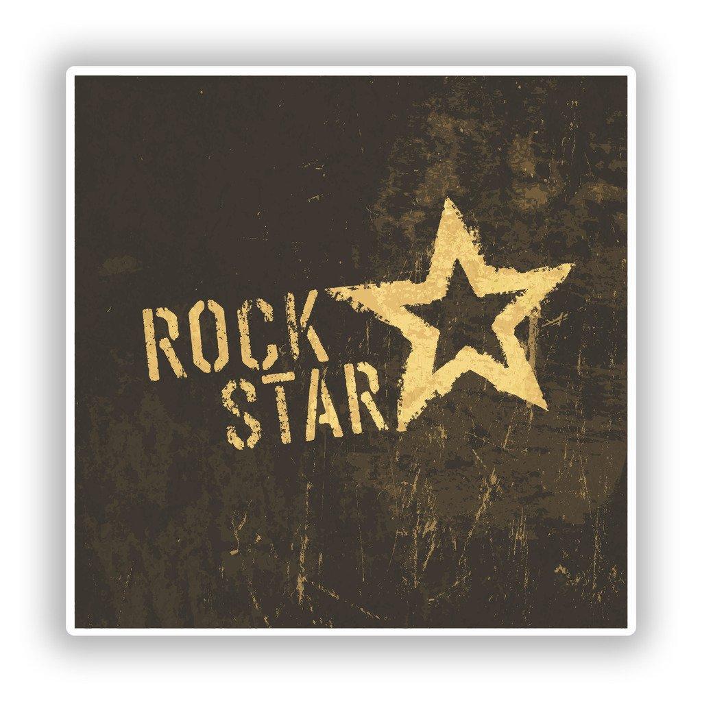 2 x 10cm//100mm Distressed Rock Star Vinyl Stickers Travel Luggage #10102