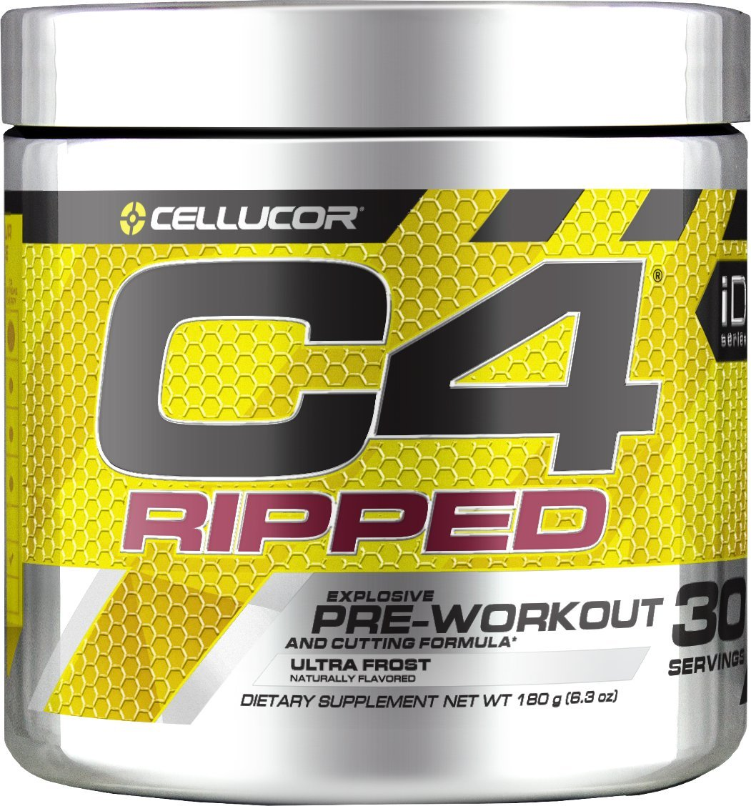 CELLUCOR C4 Ripped Pre Workout, Ultra Frost, 30 Servings - Preworkout Powder for Men & Women with Green Coffee Bean Extract & L Carnitine