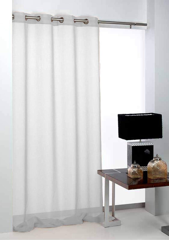 Export Trading Basic Rideaux en Polyester Blanc 140 x 265 cm