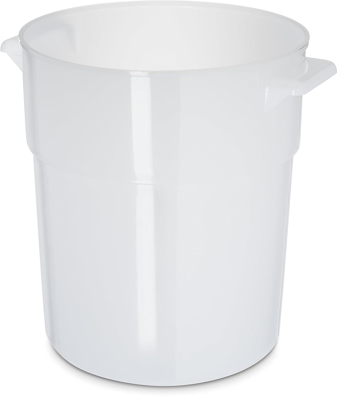 Carlisle 035002 BPA-Free Bains Marie Round Storage Container, 3.5 Quart, White