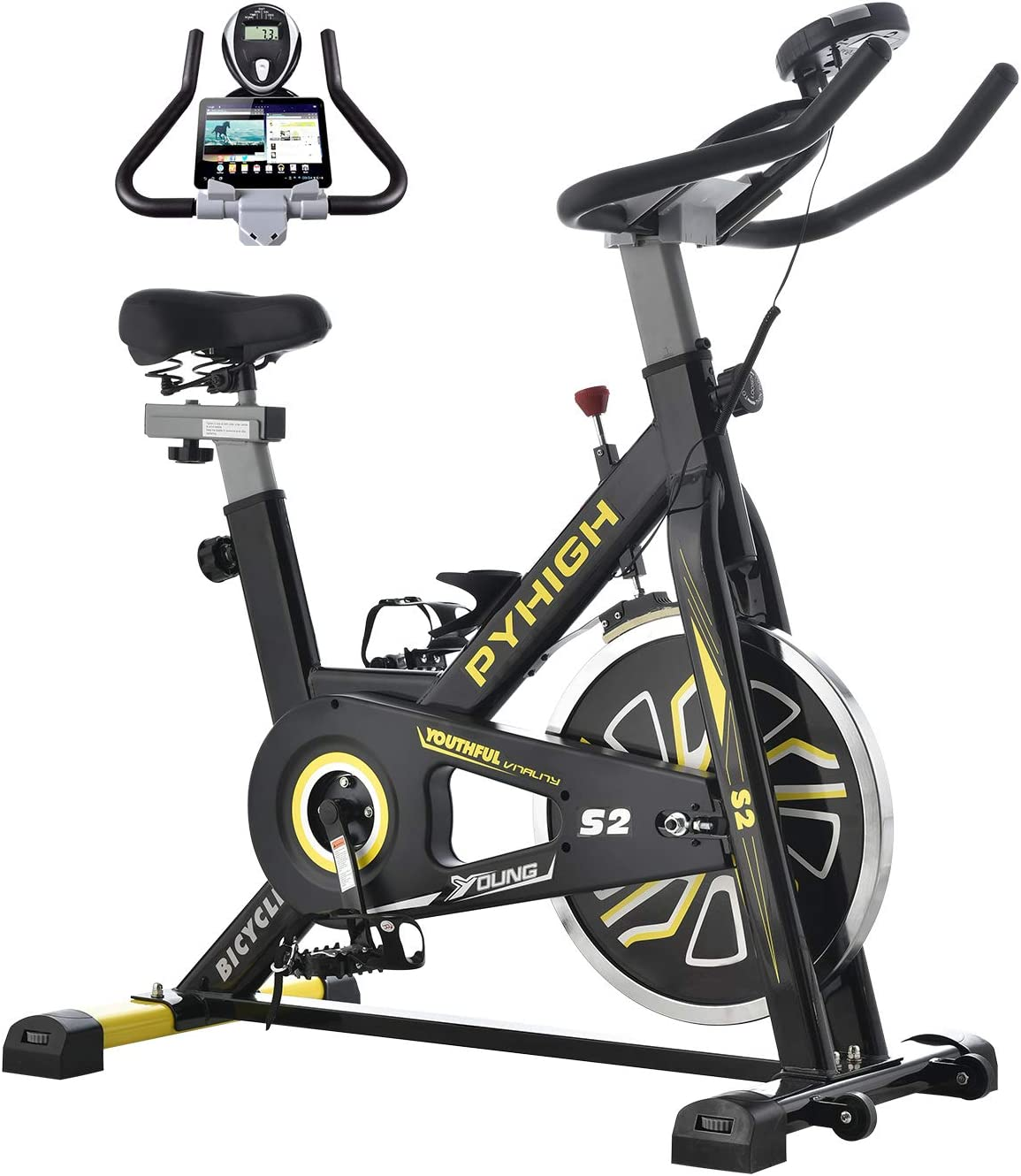 PYHIGH Indoor Cycling Bike Stationary Exercise Bike