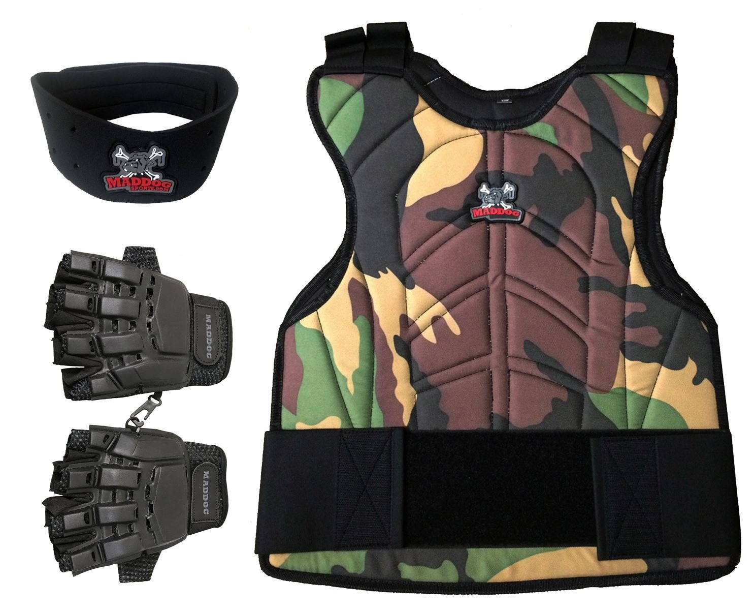 MAddog Padded Chest Protector Combo Package - Camo - Small/Medium
