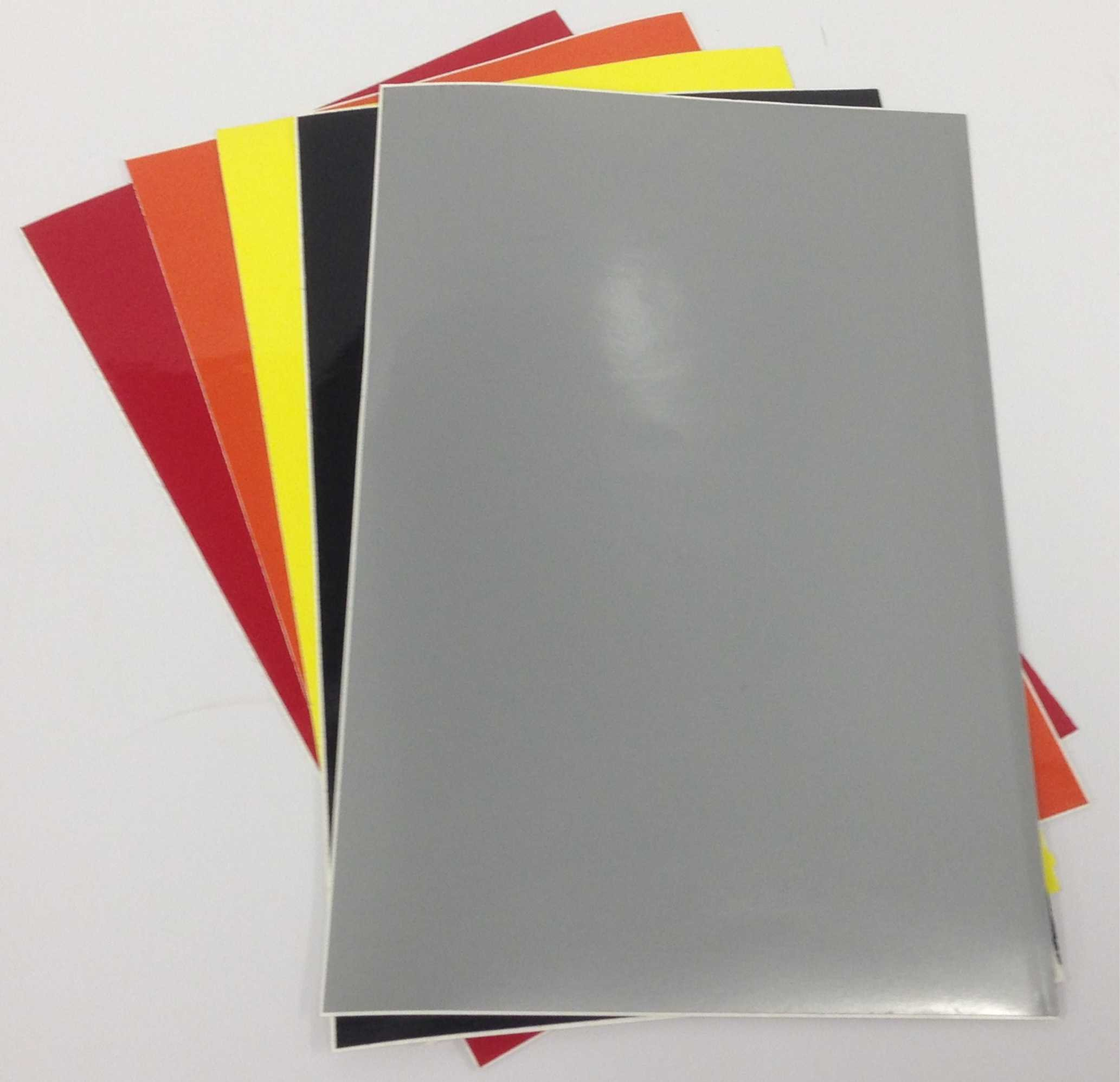 Dry Erase Magnet Sheets - 9'' X 12'' - 5 Sheets - Multiple Colors