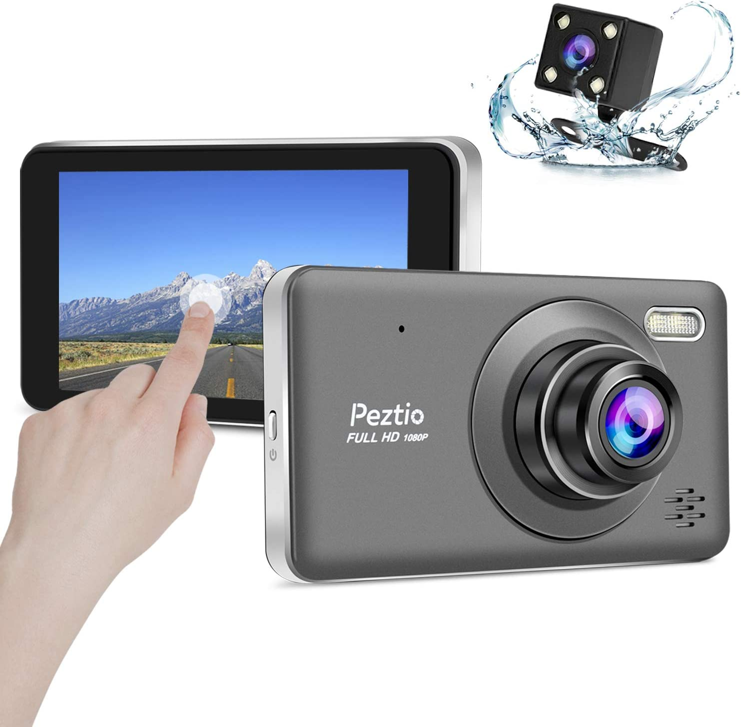 for Motorcycle Motorbike Dual Dash Cam 1080P Front and Rear Car Camera 1280 720P 3.0 IPS Waterproof,140/° Wide Angle Parking Mode