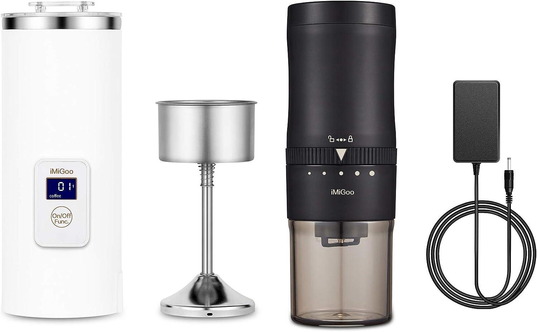 iMiGoo Portable Coffee Maker & Burr Coffee Grinder
