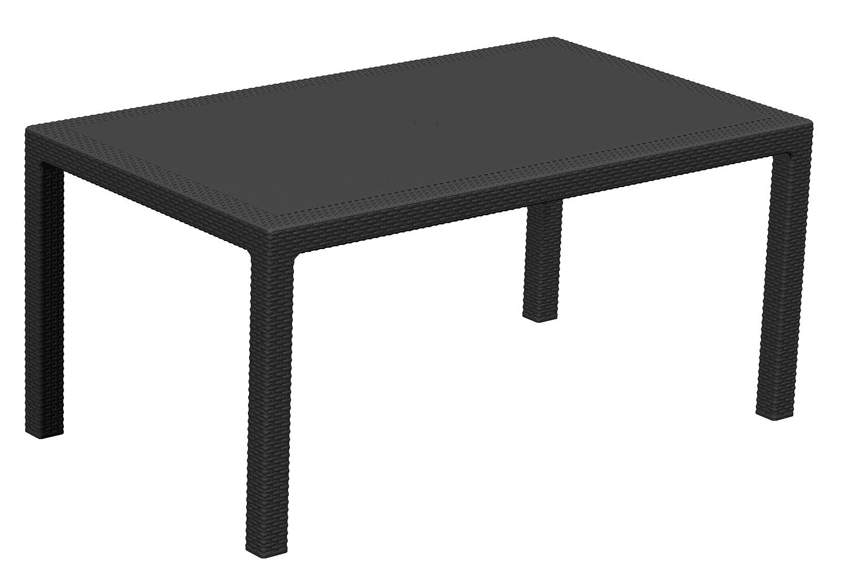 Keter 17190205 Tisch Melody Table Rechteckig Rattanoptik