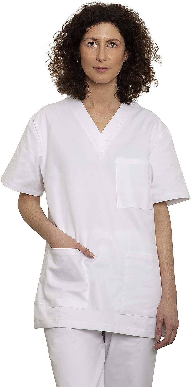 Uniforme Sanitario Pijama Conjunto Casaca Y Pantalón Unisex Hombre Y Mujer | Uniforme Hospitalario 100% Algodón Sanforizado | para Medico, Enfermeros, Personal Sanitario, Veterinario, Esteticista, De