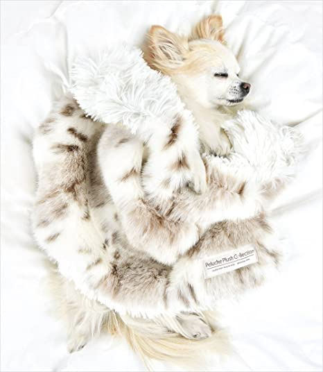 Peluche Plush Luxury Two-Tone Reversible Faux Fur Dog/Pet Carrier Blanket (13""