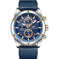 Montre Homme Montres Bracelets de Sport Etanche Bleu Design Chronographe Militaire Lumineuses Montre Grand Cadran Analogique Luxe Classique