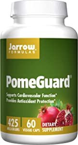 Jarrow Formulas PomeGuard, Supports Cardiovascular Function, 425 mg, 60 Veggie Caps