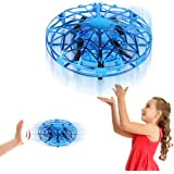 Mini Drone for Kids, Hand Operated Drones for Kids 8-12 Easy Indoor Hand Controlled Flying Ball UFO Drone with Shinning LED L