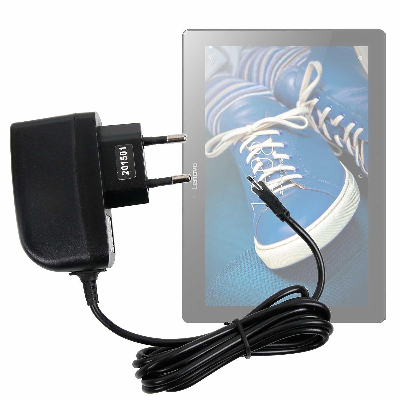 DURAGADGET Cargador (2 Amperios) para Tablet Lenovo Tab 2 A10-30 - con Conexión Micro USB Y Enchufe Europeo De Pared - Certificado por La CE