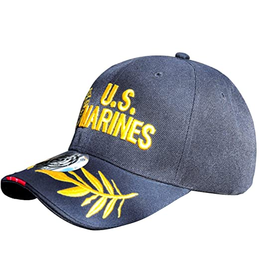 5b066f8819bd9 Image Unavailable. Image not available for. Color  US Army The United  States Marine Corps Unisex Adjustable Embroidery Hat Sun Cap Custom ...