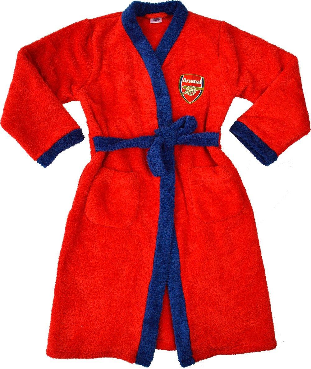 Boys Arsenal Football Club Bath Robe Dressing Gown House Coat Red)