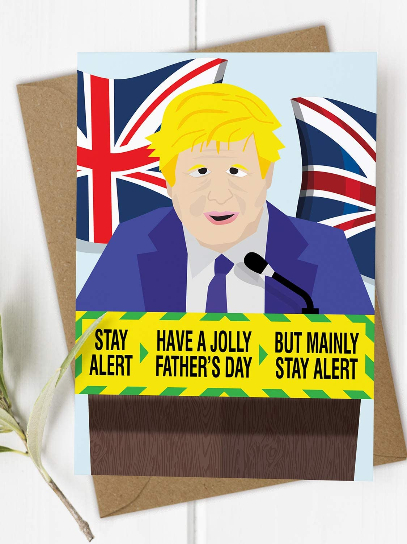 Boris Johnson souhaitant UE une sanglante bonne fête des pères-Funny Novelty Carte Papa
