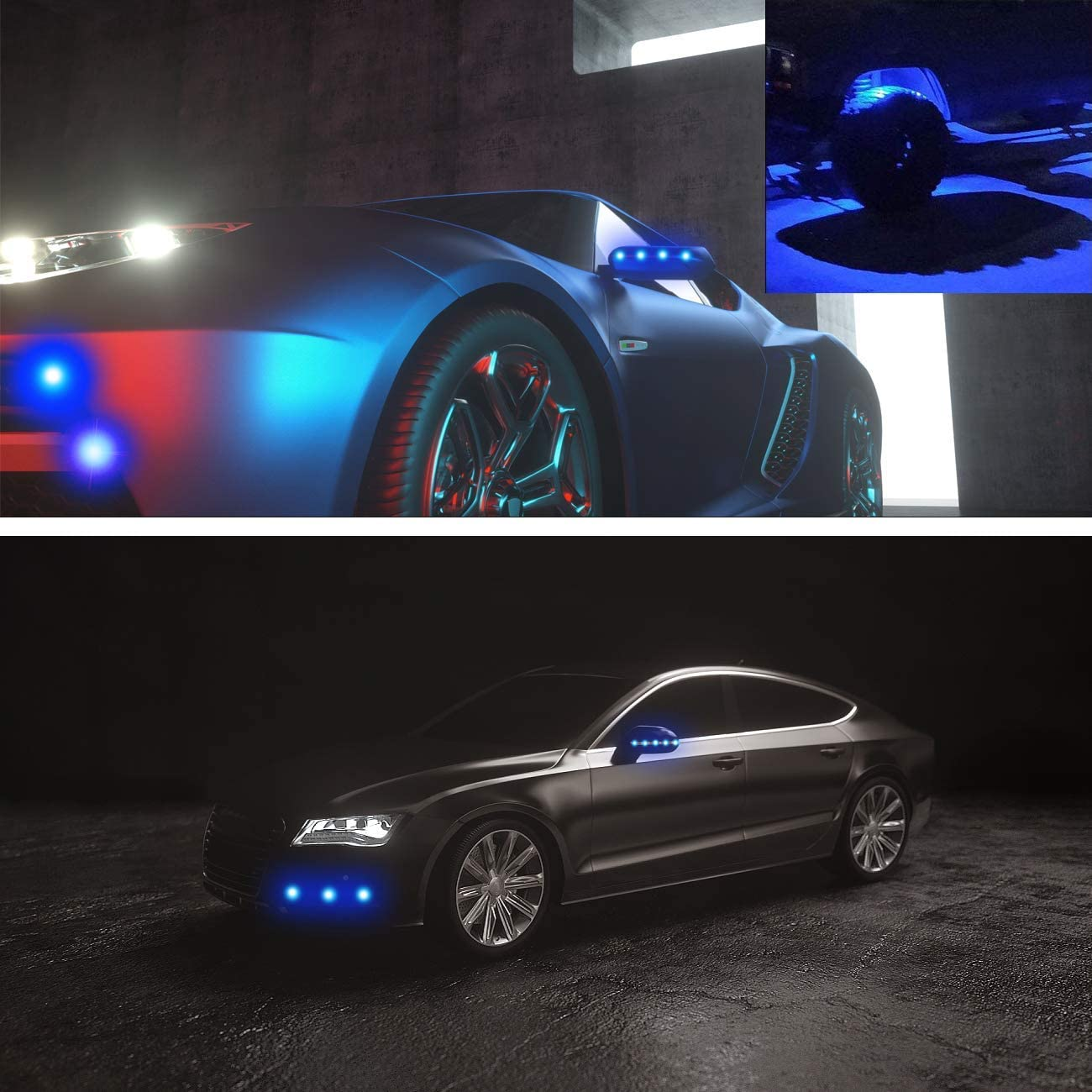 10pcs 9W 23mm DRL Nebelscheinwerfer Motorradlicht Tagfahrlicht 12V wasserdicht mit Schraube f/ür Motorradautos Rot Eagle Eye LED Light
