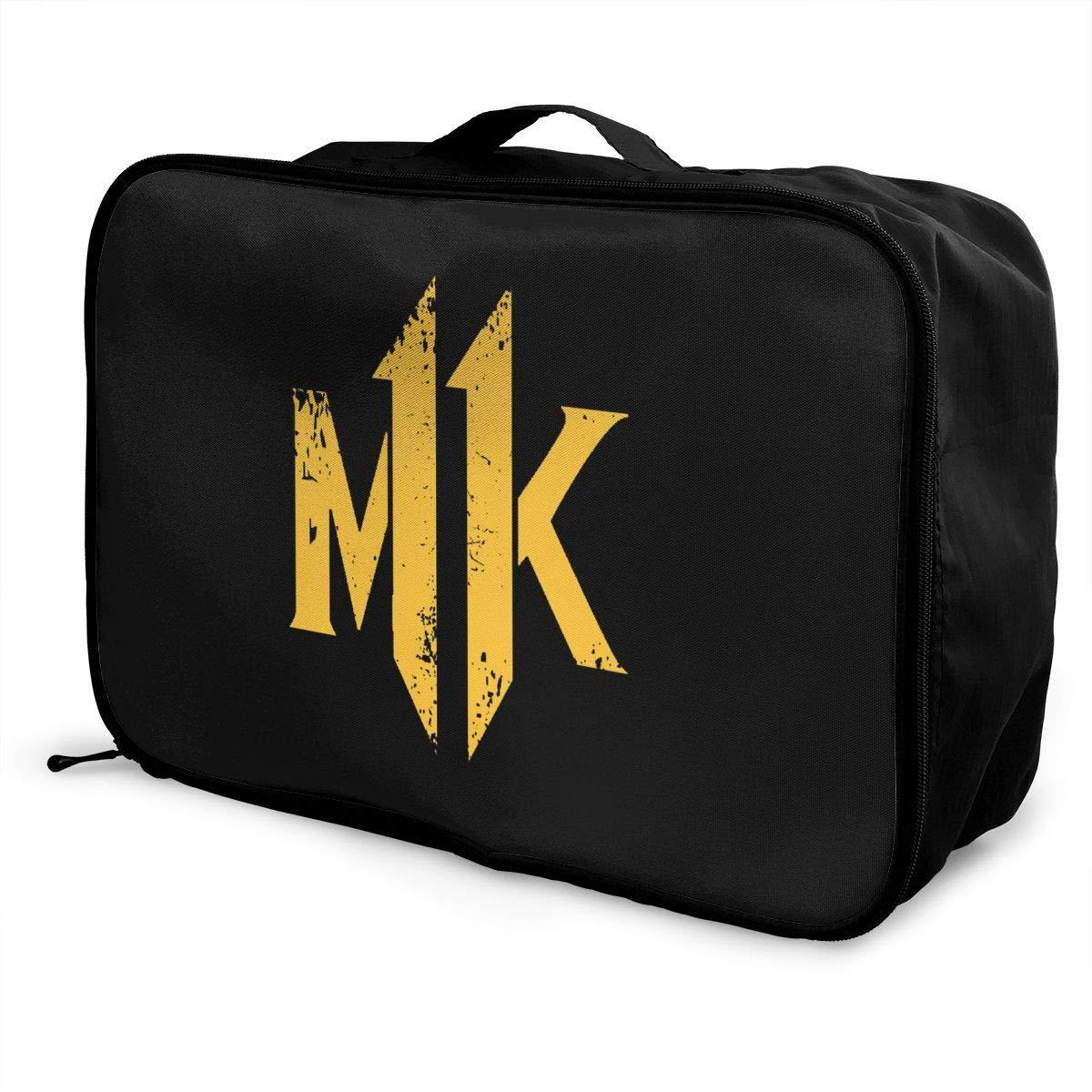 Fretlo MK Travel Duffel Bag Waterproof Lightweight Large Capacity Portable Luggage Bag Black