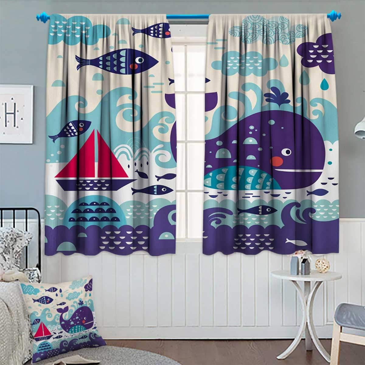 Amazon.com: Anhounine Purple,Blackout Curtain,Nebula Gas Cloud Deep ...