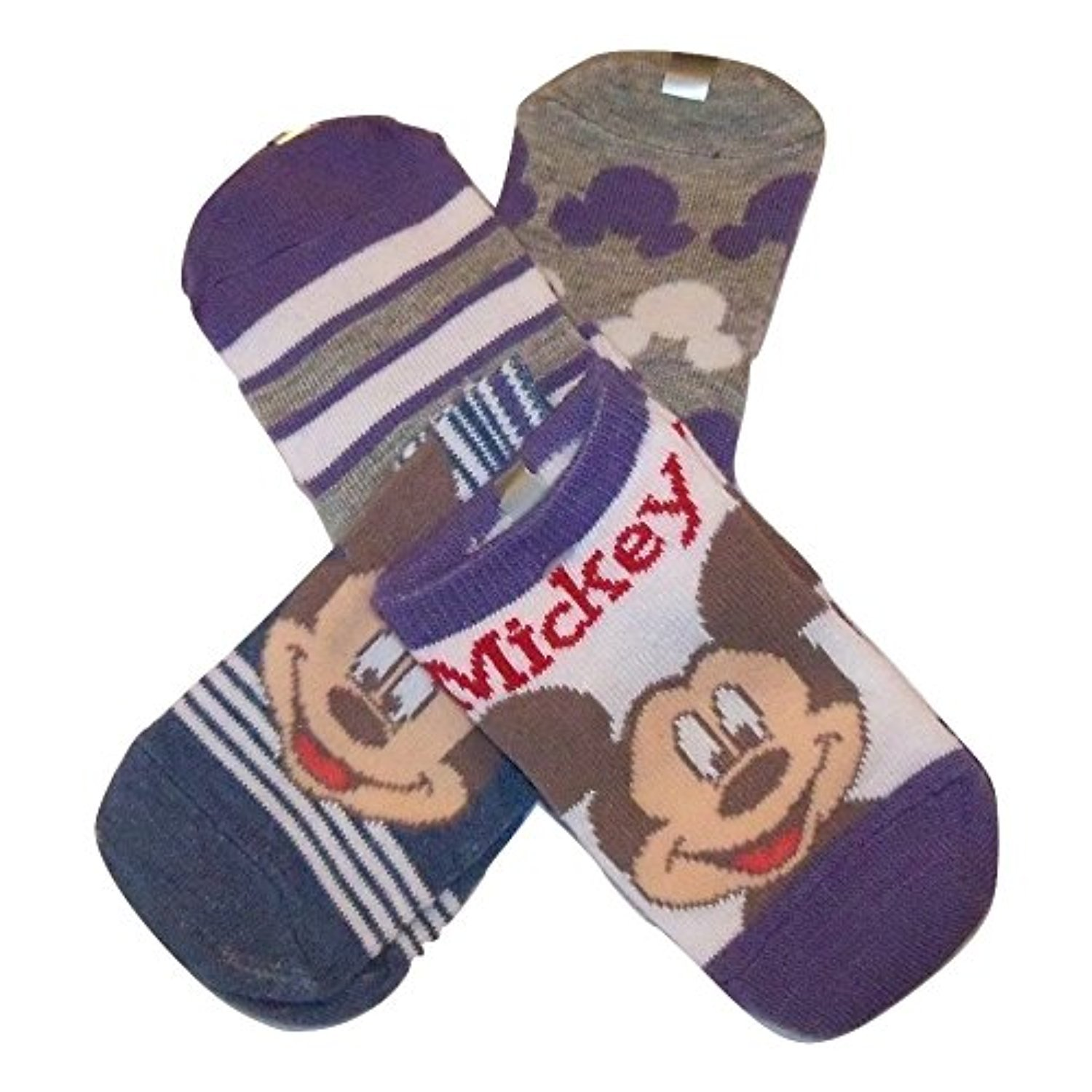 Size 0-6 Months Disney Mickey Mouse Infant Socks 4 Pair