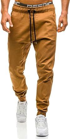 Amazon Com Ivan Johns Pantalones De Nueva Moda Delgado Color Solido Elasticidad Hombres Casual Pantalones De Pantalones Para Hombre Joggers M 3 X L Xxxl Caqui Clothing