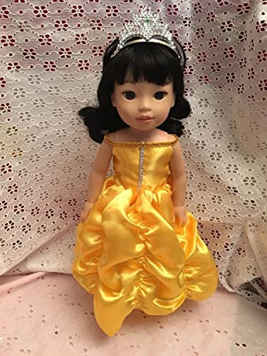 Fits 14.5 inch Wellie Wishers Doll Clothes Princess Belle Inspired Dress Halloween Costume NO DOLL  sc 1 st  Amazon.com & Amazon.com: Fits 14.5 inch Wellie Wishers Doll Clothes Princess ...