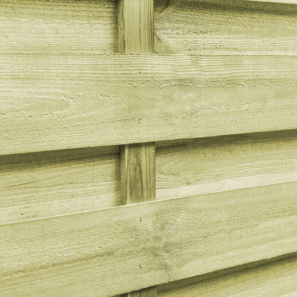 vidaXL 2x Legno Pino FSC Cancello Steccato 300x100cm Verde Cancelletto Recinto
