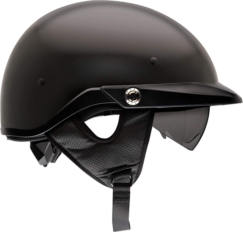 Bell Unisex XXX-Large 7072767 Matte Black Pit BOSS Open-Face, D.O.T-Certified Street Helmet-Adult Size XXXL Solid, XXX-Large
