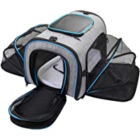 Siivton Airline Approved 4 Sides Expandable Pet Carrier with Fleece Pad